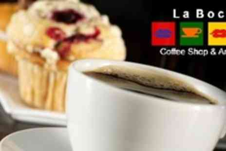 La Boca Coffee Shop & Art Cafe - Ten Hot Drinks and One Slice of Cake - Save 65%