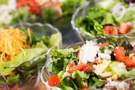 New York Style - Lunch With Salad or Wrap and Frozen Yogurt  - Save 55%