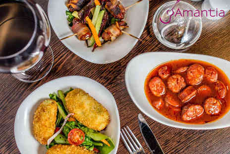 Amantia Restaurant - Tapas Meal with Glass of Sangria or Wine for Two  - Save 0%