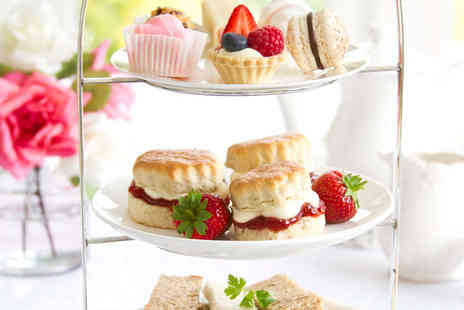 Hole in the Wall Cafe - Afternoon Tea for Two  with a Glass of Prosecco Each - Save 53%