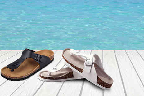Uniquely Zero - Pair of faux leather sandals  - Save 76%