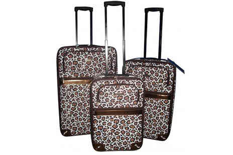 HomeStore Direct - Three Piece Leopard Print Luggage Set - Save 54%