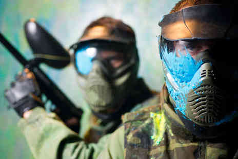 Asylum Paintball - Paintballing for Ten with 100 Paintballs Each, and Drink and Crisps - Save 95%