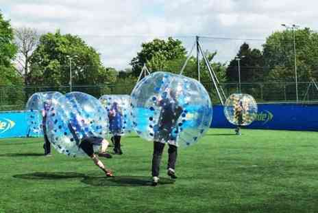 Lucozade Powerleague Head Office - Zorb Football Party With Food and Drinks For Ten Kids - Save 50%