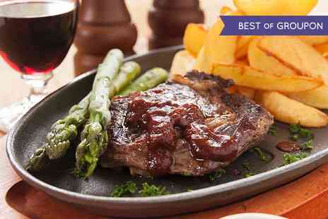 oscars bar and restaurant - Steak and Wine For Two  - Save 57%