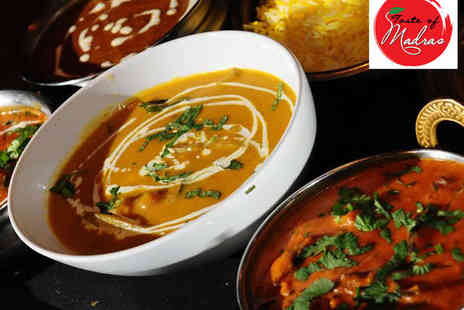 Taste of Madras - Starter, Main Course, and Cobra Beer Each for Two - Save 50%