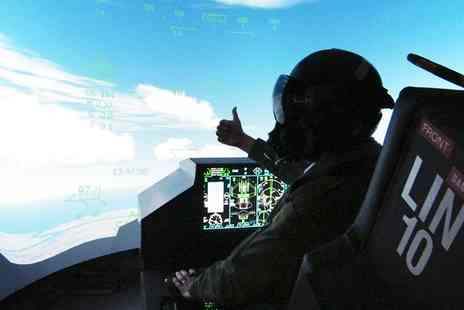 Flight Sim Centre - 30 minute Fighter Pilot Simulator Experience for One - Save 28%