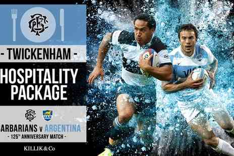Barbarians -  Champagne  Two Course Lunch and VIP Lounge for Barbarians v Argentina Rugby  - Save 0%
