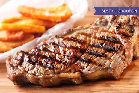Salvatores Ristorante - Two Course Steak Meal and Wine for Two  - Save 64%