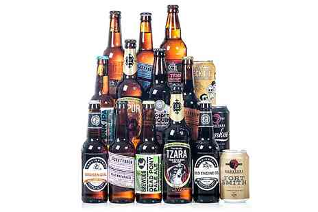 Beer Hawk -  15 or 30 British Craft Beers Plus £5 Gift Voucher With Free Delivery - Save 33%