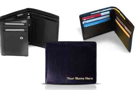 Cute Cow - Personalised Leather Wallet Laser Marked With Your Name - Save 50%