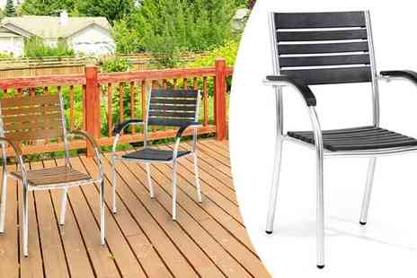 Fishoom  - Stackable Outdoor Chairs in 2 Colours - Save 79%
