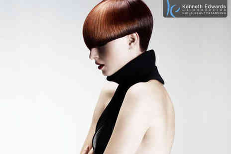 Kenneth Edwards Hairdressing - Haircut, Blow Dry, and Half Head of Highlights or Full Head of Colour - Save 64%