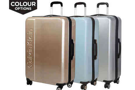 Brands Village - Calvin Klein Unisex Suitcase in a  Choice of Three Colours - Save 62%