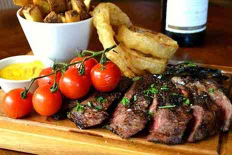 Thirsty Flame - 12oz Steak Each and a Bottle of Wine to Share for Two - Save 59%