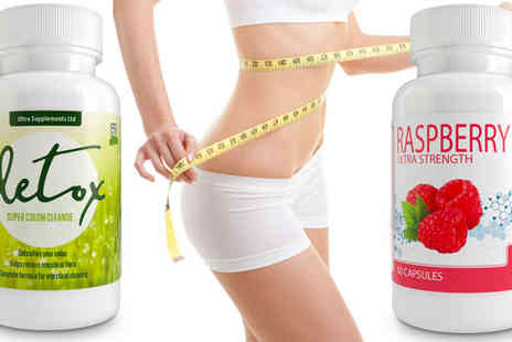 Ultra Supplements - One Month Supply of Colon Cleanse and Raspberry Ketones - Save 83%