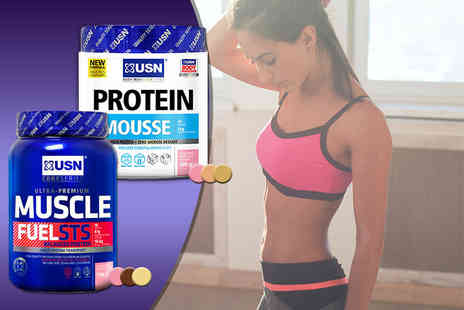 USN - Two kg USN Muscle Fuel STS and 480g USN Protein Mousse in a choice of nine flavour combinations - Save 51%