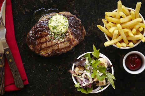 Steak & Lobster  - 10oz Ribeye Steak or Whole Lobster Meal with Fries and a Drink - Save 2%