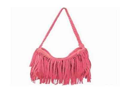 Shine Accessories - Suede effect tassel bag  - Save 48%