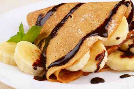 Champion Crepes - Two Savoury or Sweet Crepes and Drinks - Save 56%