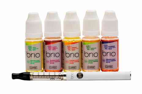The Clipper - Brio by Clipper Mini Tank Vaporizer Starter Kit Plus Five E Liquids in Choice of Flavour  Free Delivery  - Save 46%