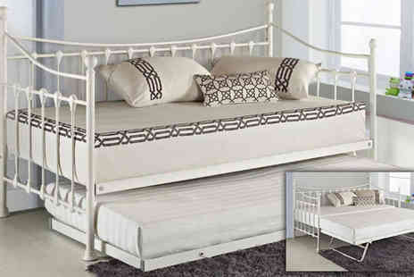 Sleep Design - Versailles Day Bed with Trundle & Optional Mattresses - Save 60%