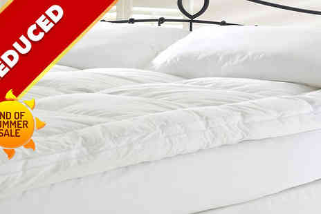 RZK Textiles - Goose Feather and Down Mattress Topper  - Save 45%