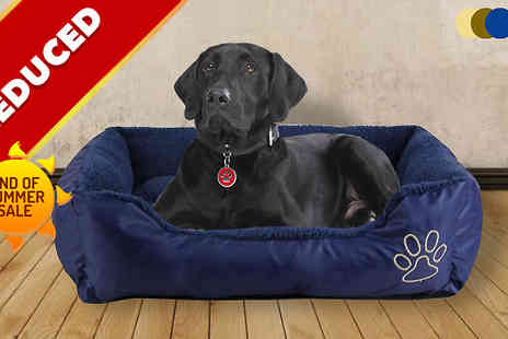 Gadget Central - Deluxe Soft Washable Dog Bed - Save 60%