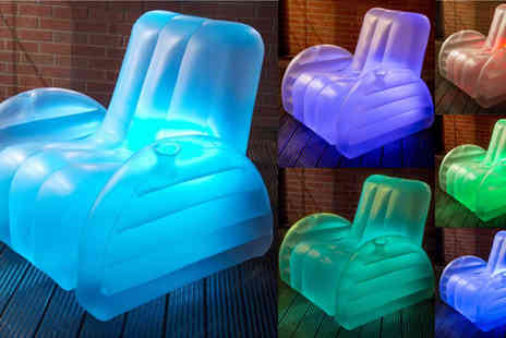 Mattress Shed - Starlite Luna Inflatable LED Chair - Save 47%