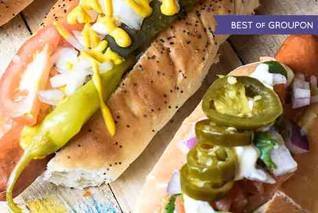 Primos Gourmet Hotdogs - Hotdog or Burger For Two  - Save 43%