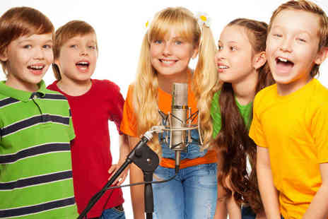 Pop Music Experience - Hour Long Childrens Studio Recording Party for up to with CD of Recorded Track - Save 90%