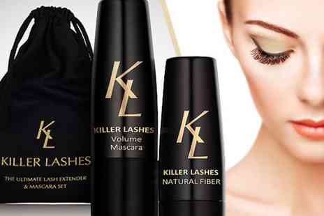 Killer Lashes - Volume Mascara & Fibre Lash Extender - Save 77%
