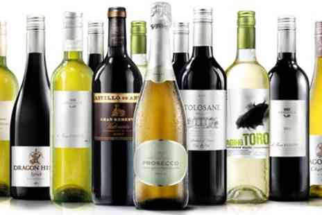 Virgin Wines Online  -  Twelve Bottles of Wine including Bubbly - Save 62%