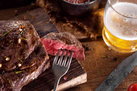 Elysium - Two course steak meal for two with a glass of wine each  - Save 47%