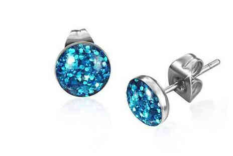 My Boutique Store - Glitter Dust Stainless Steel Stud Earrings - Save 86%