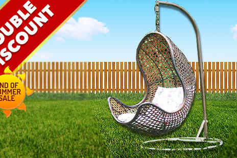 Furnishing imports - Rattan Hanging Egg Chair - Save 69%