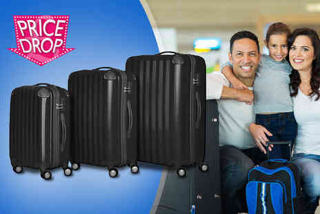 Elegant Trading - Three piece hard shell travel luggage set   - Save 62%