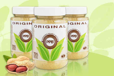 My Health Shop - Three 180g jars of Hale natural powdered peanut butter - Save 46%