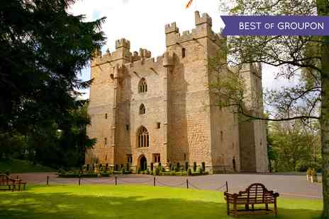 Langley Castle Hotel - One or Two Nights stay For 2 With Breakfast and Castle Tour  Plus Dinner - Save 48%