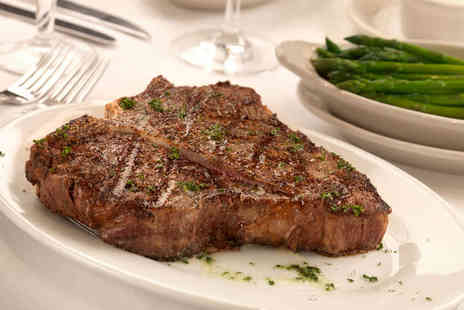 Penn Central - 12oz Porterhouse Steak with Chips, Pepper Sauce, Coleslaw, and Glass of Prosecco Each for Two - Save 40%