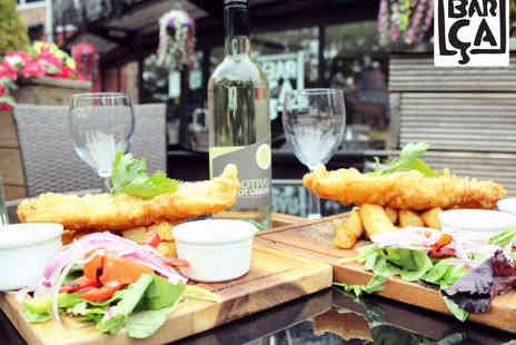 Barca Bistro - Fish and Chips for Two with Bottle of Wine to Share  - Save 52%
