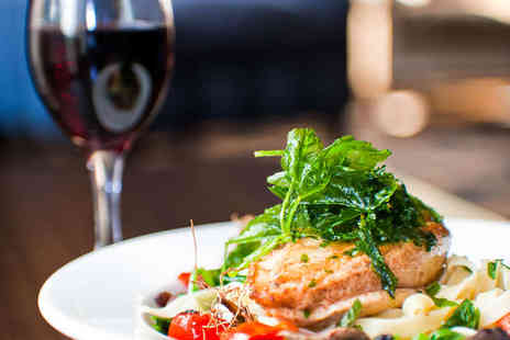 The Social Restaurant - Two Course Meal with a Glass of Wine Each for Two - Save 49%