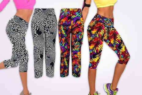 Uniquely Zero - Pair of printed workout leggings  - Save 77%