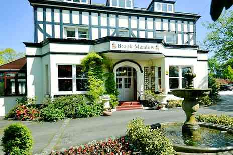 Brook Meadow Hotel - One to Three Nights For Two With Breakfast Option for Cream Tea or Dinner and Wine  - Save 68%