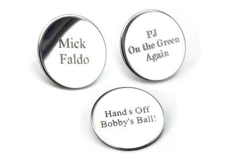 Victorias Candy - Personalised Golf Ball Marker Set  - Save 60%