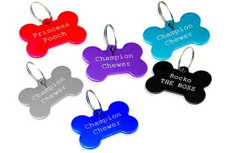 Jewellery Hall - Personalised Dog Tags - Save 77%
