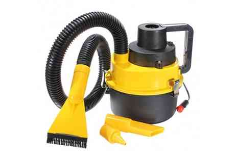 Verage Group - Wet and Dry Portable Car Vacuum and Air Compressor - Save 59%