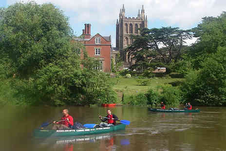 Ross on Wye Canoe Hire  - Seven hours canoe hire for two  - Save 53%