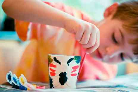 Colour Me Wild - Mug or Plate Pottery Painting Session  - Save 53%