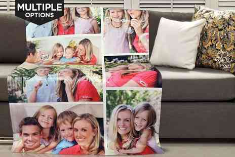 Dinkleboo  - Personalised Photo Blanket  75 x 100cm (£19) or 100 x 150cm - Save 68%